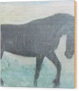 The Wild Stallion Wood Print