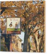 The William Pitt Shop Sign Wood Print