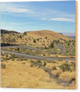 The Winding Road In Central Oregon Wood Print