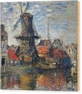 The Windmill Amsterdam Claude Monet 1874 Wood Print
