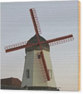 The Windmill Wood Print