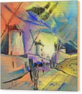 The Windmills Del Quixote 02 Wood Print