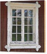 The Window 1 Wood Print
