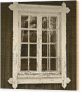 The Window 2 Wood Print