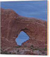 The Window At Arches N.p. After Dark Wood Print