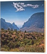 The Window In The Chisos Mountains Wood Print