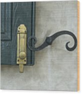 The Window Latch Wood Print