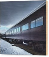 The Windows Of The Train Wood Print
