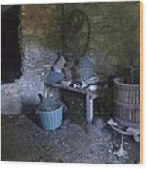 The Wine Cellar Wood Print