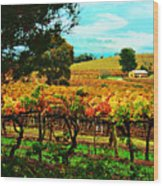 The Winemakers Residence Wood Print