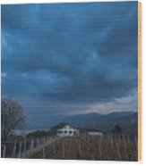 The Wineyard Wood Print