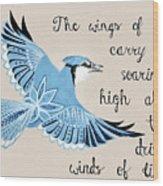 The Wings Of Hope Wood Print