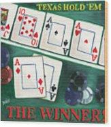 The Winner Wood Print by Debbie DeWitt