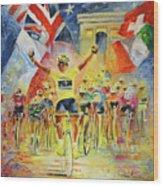 The Winner Of The Tour De France Wood Print