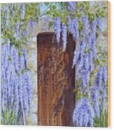 The Wisteria Gate Wood Print