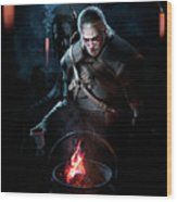 The Witcher Wood Print