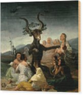 The Witches' Sabbath Wood Print by Goya