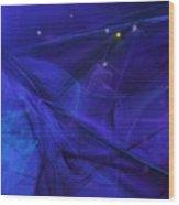 The Wizard Mid-incantation Wood Print