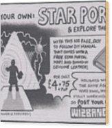 Wizbang Star Portal Wood Print