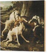 The Wolf Hunt Wood Print