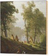 The Wolf River - Kansas Wood Print by Albert Bierstadt