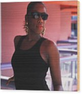 The Woman In Black Wood Print