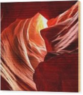 The Woman In The Canyon Wood Print