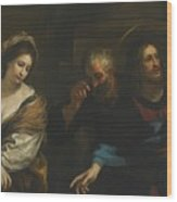 The Woman Taken In Adultery Wood Print