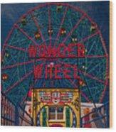 The Wonder Wheel At Luna Park Wood Print
