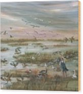 The Wondrous Feathered Things Of The Great Marsh Wood Print