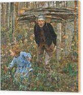 The Wood Gatherer Wood Print