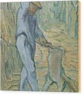 The Woodcutter After Millet Saint Remy De Provence September 1889 Vincent Van Gogh 1853  1890 Wood Print