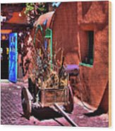 The Wooden Cart Wood Print