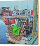The Work Boat Wood Print