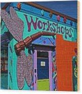 The Workshop-vertical Wood Print