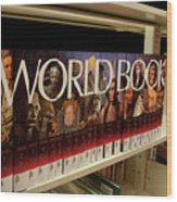 The World In The Library - Encyclopedias Wood Print