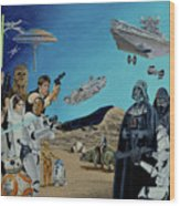 The World Of Star Wars Wood Print
