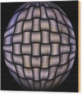 The World Weaved Together Wood Print by Myrna Migala