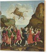 The Worship Of The Egyptian Bull God Apis Wood Print