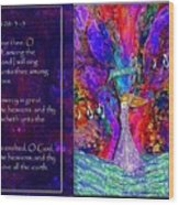 The Worshipping Heart And The Anointing Of Colors Wood Print