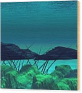 The Wreck Diving The Reef Series Wood Print