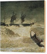 The Wreck Of The Iron Cloud, 1881 Wood Print