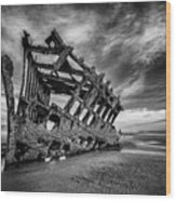 The Wreck Of The Peter Iredale Wood Print