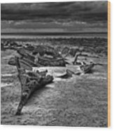 The Wreck Of The Steam Trawler Wood Print