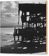 The Wreckage Of The Peter Iredale II Wood Print