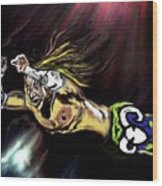 The Wrestler Wood Print