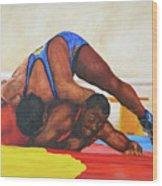 The Wrestlers Wood Print
