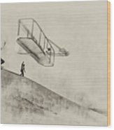 The Wright Brothers At Kittyhawk Wood Print