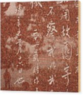 The Writings Of Lu Xun With Reflection Of Man Wood Print