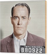 The Wrong Man, Henry Fonda, 1956 Wood Print